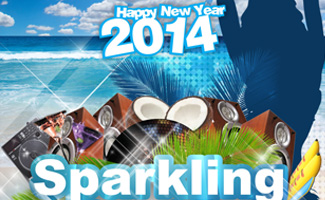 Happy New Year 2014 (Sparkling Beach Party)
