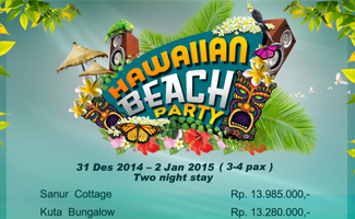 Hawaiian Beach New Year Party