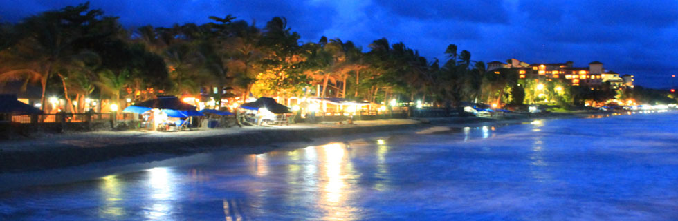 Beach View at night